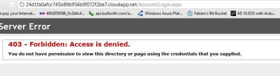 Access denied error (based on my IP)