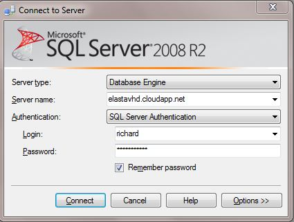 Logging into SQL Server